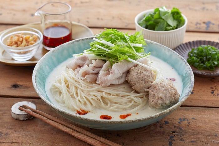 濃厚!鶏だし豆乳そうめん/画像提供:日本アクセス
