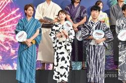(左から)赤楚衛二、松井玲奈、藤井隆(C)モデルプレス