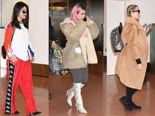 キム・カーダシアンら姉妹が来日 三者三様の空港ファッションにも注目