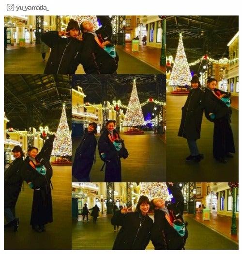 子どもと一緒にディズニーを満喫した山田優(左)と西山茉希(右)/山田優Instagramより