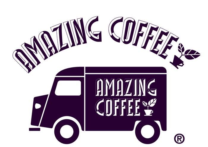 コーヒーショップ「AMAZING COFFEE」ロゴ(画像提供:所属事務所)