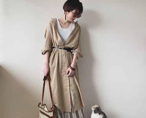 ベージュを使ったモテカジュアルコーデ 洋服もオトナ色にシフトチェンジ♡