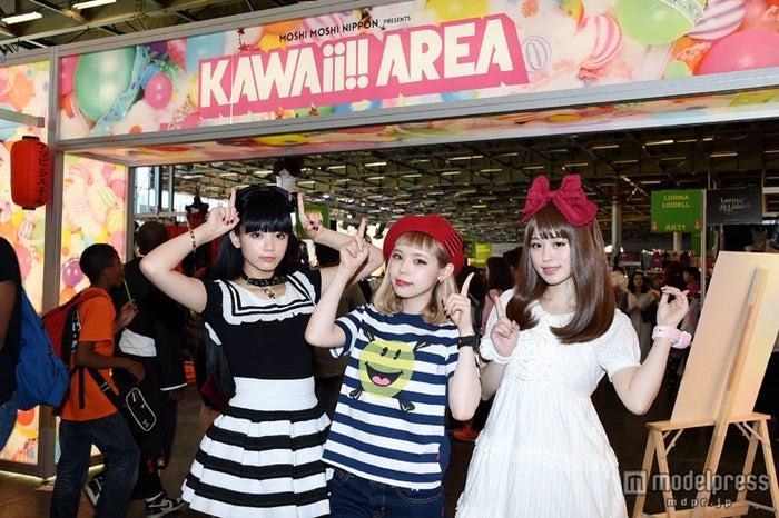 「KAWAii!!AREA」(左から)ゆら、瀬戸あゆみ、やのあんな