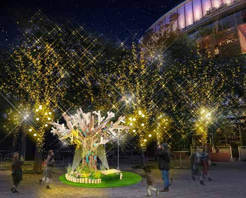 東京ドームシティの冬季イルミネーション、LED23万個輝く巨大ツリー&撮影が楽しくなる仕掛けも