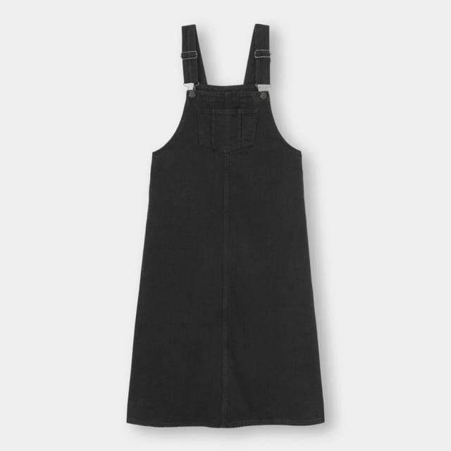 黒のデニムジャンパースカート
