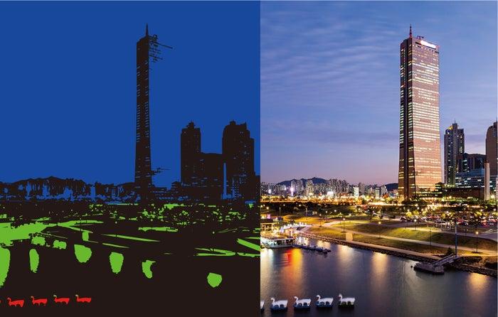 AIを駆使した夜景モードで、色彩豊かな1枚を