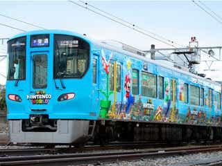 USJ「スーパー・ニンテンドー・ワールド」新ラッピング列車が運行、マリオやルイージをデザイン