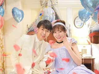 ディズニー好きYouTuberあいにゃん、婚約発表 シンデレラ風ドレスで2ショット 今まで着用したディズニー風ドレスと馴れ初めを紹介