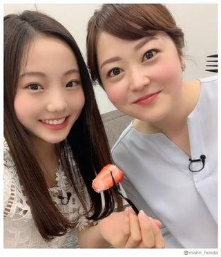 フィギュア本田真凜、水卜麻美アナと対面で歓喜「夢のような幸せな時間」 2ショットに反響
