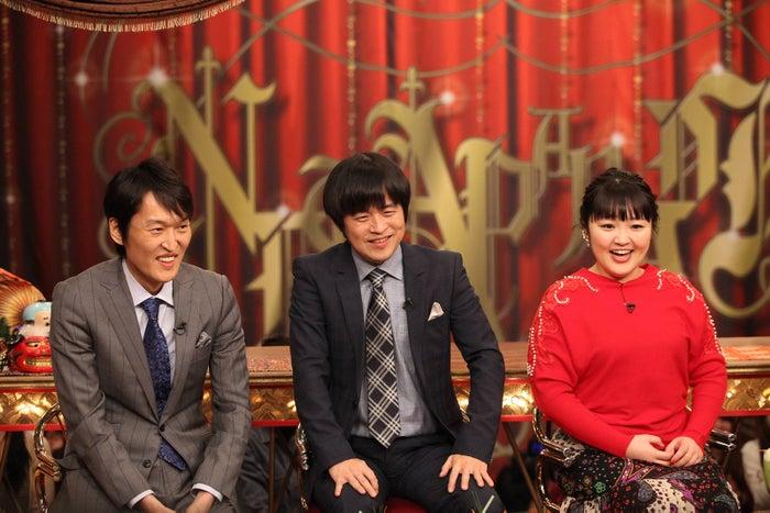 (左上から)千原ジュニア、バカリズム、柳原可奈子 (C)フジテレビ