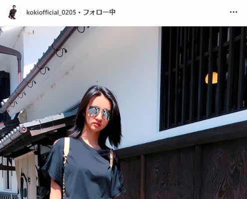 木村拓哉&工藤静香の次女・Koki,(コウキ)、サングラス姿に「お父さんそっくり」の声殺到
