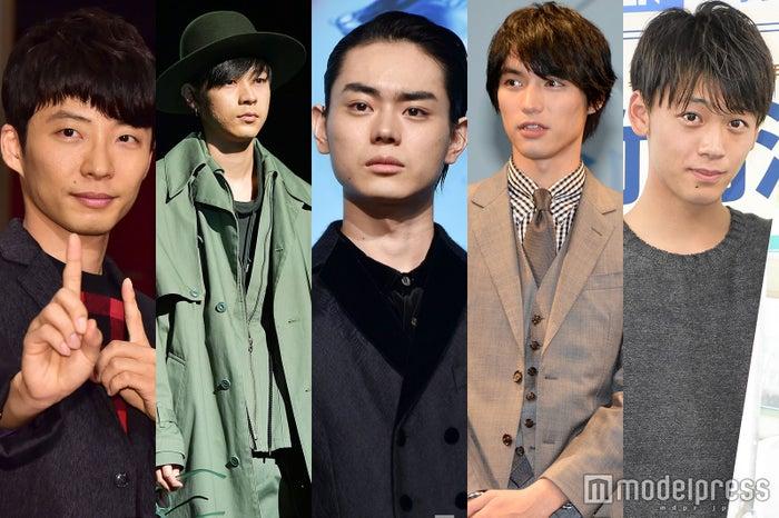 (左から)星野源、成田凌、菅田将暉、福士蒼汰、竹内涼真 (C)モデルプレス