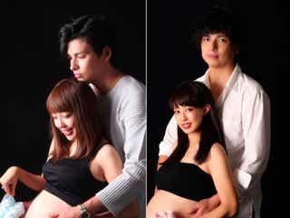 第2子妊娠中の川崎希、3年前のマタニティフォト再現「なつかしいね~」