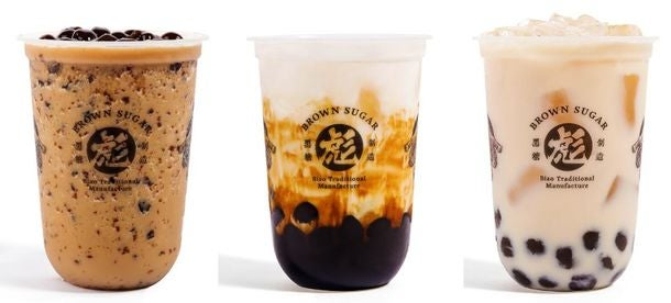 <おすすめ3種>左から黒糖彪ミルクフラッペ/黒糖タピオカミルク/波覇ミルクティー/画像提供:アントワークス