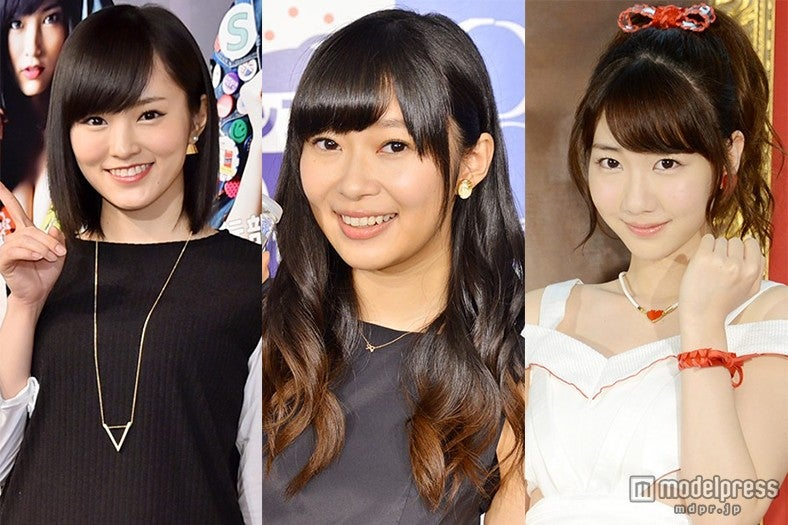 AKB48グループメンバーが総選挙投票締切前の心境を告白(左から)山本彩、指原莉乃、柏木由紀【モデルプレス】