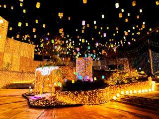 ひらかたパーク「光の遊園地」春仕様のパステルイルミネーション点灯