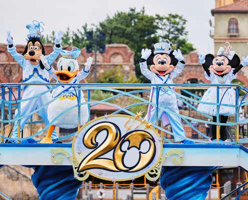 TDSアニバーサリーイベント「東京ディズニーシー20周年:タイム・トゥ・シャイン!」スタート 水上グリーティングやデコレーション、グッズ&メニューも