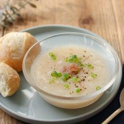「長芋のねばねば冷製梅スープ」レシピ【365日のパンとスープ】