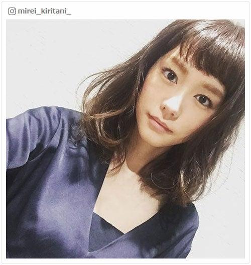 ヘアカットを報告した桐谷美玲/桐谷美玲Instagramより