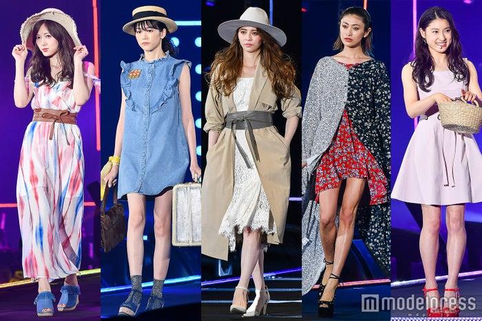 (左から)白石麻衣、桐谷美玲、香里奈、山田優、土屋太鳳(C)モデルプレス