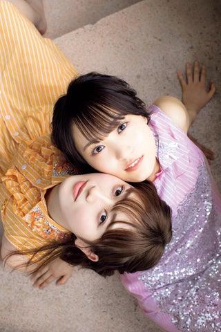 欅坂46菅井友香&守屋茜、頬ぴったりの2ショット 夏の装いでヘルシー肌見せ