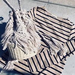 """ナチュラルだけど都会的な""""マクラメ編み""""バッグで作る「BOHOスタイル」がオシャレです!"""