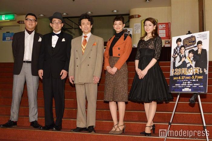 (左から)長谷川忍、じろう、なだぎ武、入山法子、立花瑠菜(C)モデルプレス