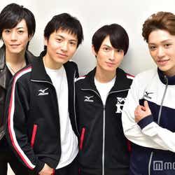 (左から)廣瀬智紀、宮崎秋人、松田凌、安西慎太郎(C)モデルプレス