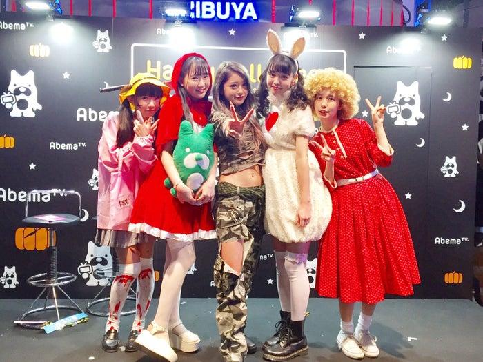 (左から)長澤茉里奈、ゆらゆら、みちょぱ、横田真悠、柴田紗希(C)AbemaTV