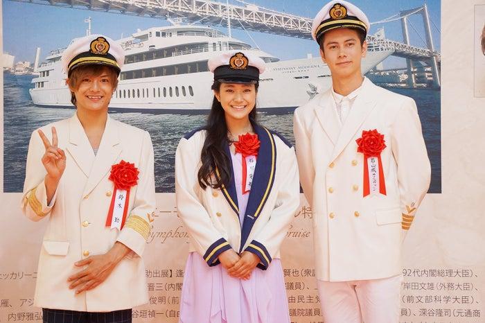 (左から)鈴木勤、石川愛果、石山城カルヴァン