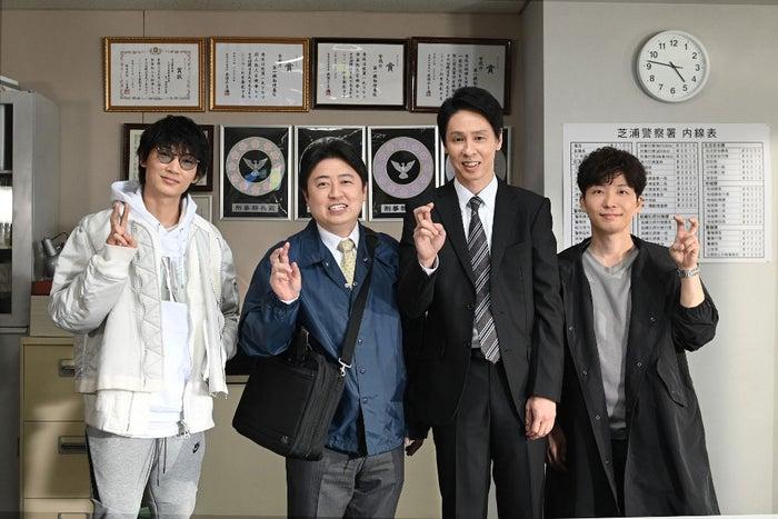 (左から)綾野剛、吉田ウーロン太、大倉孝二、星野源(C)TBS