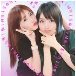 """モデルプレス - NMB48吉田朱里&太田夢莉、""""りんりそ""""プリクラに「カップルにしかみえない」の声"""