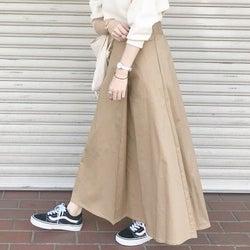 タイトもフレアも揃えたい♡チノスカートで作る春の大人カジュアル