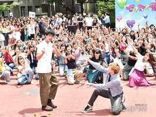 竹内涼真、EXILE佐藤大樹&青学生150名のフラッシュモブに「25年間生きてきて一番嬉しい!」<センセイ君主>
