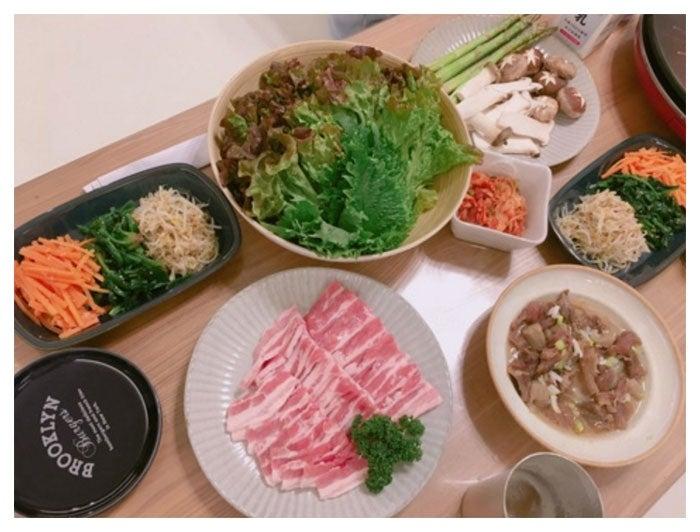 夕食の様子/辻希美公式ブログ(Ameba)より