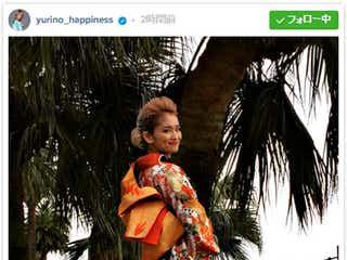 Happiness・YURINO「ママの着物」で新成人 華やか振袖姿にコメント殺到