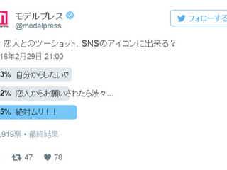 恋人とのツーショット、SNSのアイコンに出来る?【本音調査】
