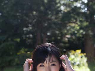 癒し系レースクイーン川村那月、ビキニでふわり美バストくっきり