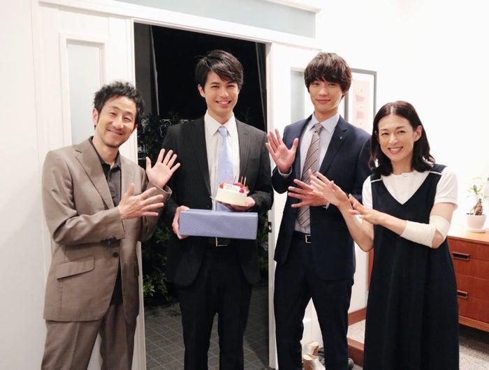 (左から)矢柴俊博、佐伯大地、福士蒼汰、鈴木保奈美(画像提供:所属事務所)