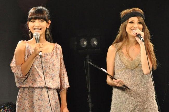 森摩耶、山本優希(「渋谷女祭り 2010 秋の陣」より)