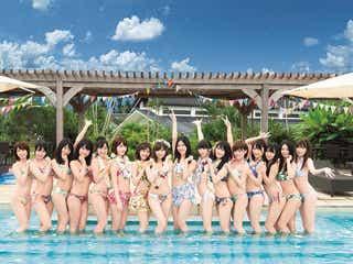 指原莉乃・渡辺麻友ら「AKB48選抜総選挙」上位16名が美ボディ競演 水着でズラリ