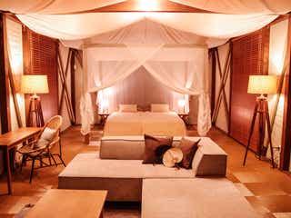 京都「グランピングヴィレッジHAJIME」天蓋ベッドや貸切風呂、手ぶらBBQで優雅に自然を満喫