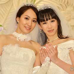 モデルプレス - 芸能界異例の同性婚 一ノ瀬文香&杉森茜、純白ウェディングドレスで挙式