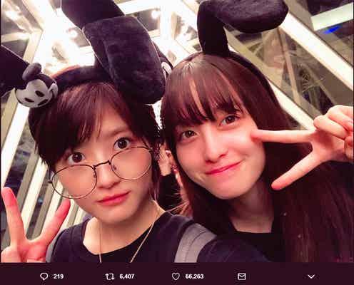 橋本環奈、若月佑美の誕生日を1番に祝福 秘蔵2ショットを続々公開