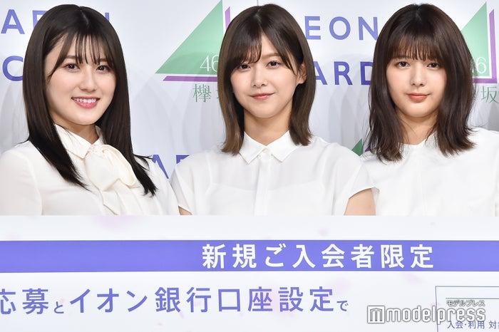 (左から)守屋茜、渡邉理佐、関有美子 (C)モデルプレス