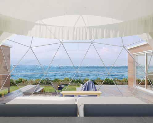 兵庫に客室温泉付グランピング「グランマーレ淡路」海風と波の音に癒される新施設