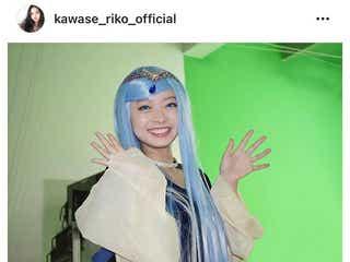 川瀬莉子、全身ブルーの王女様コスプレに反響「とんでもなく萌えた」
