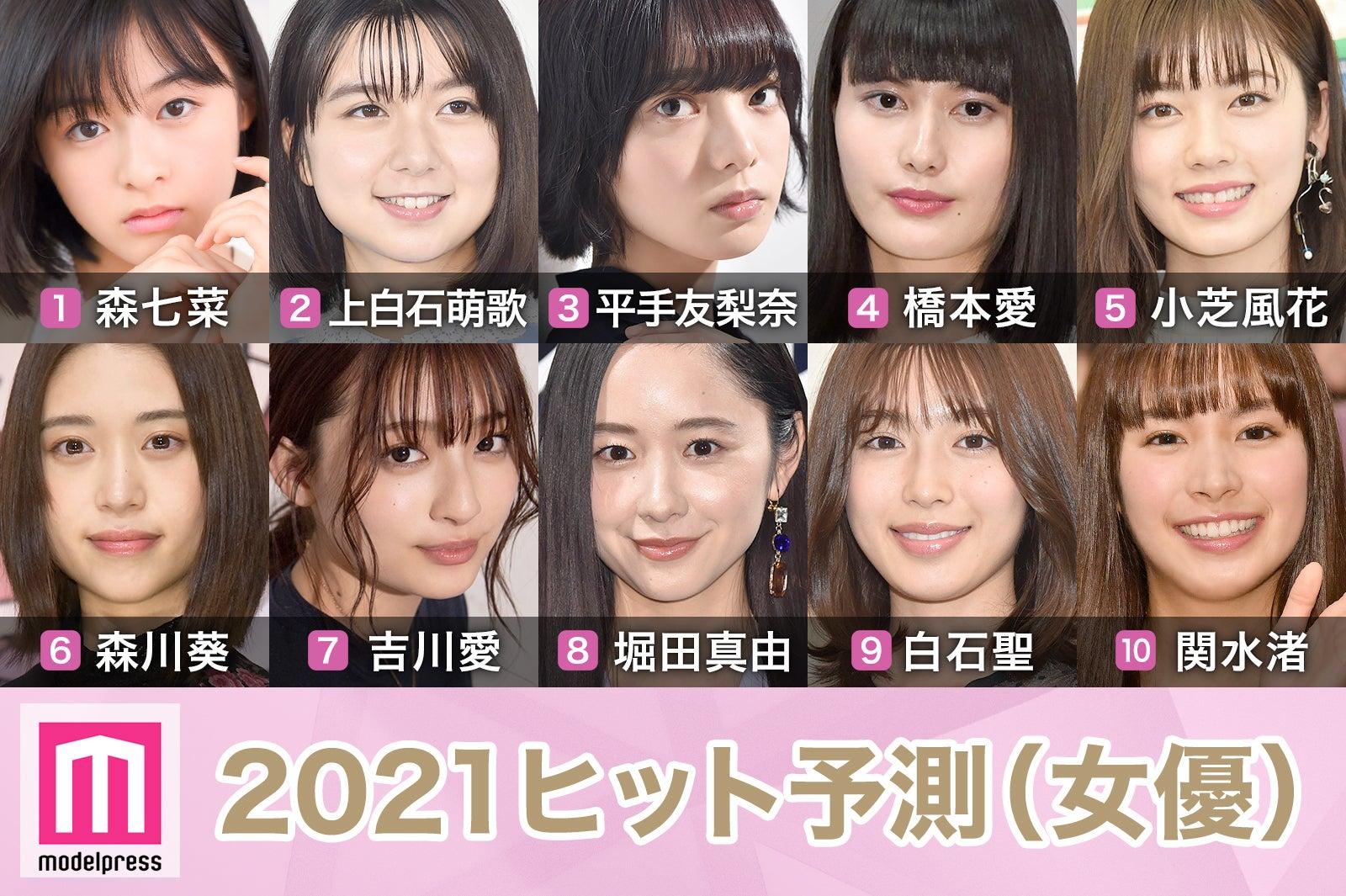 2021ヒット予測」女優部門トップ10 森七菜の勢い止まらず 平手友梨奈の ...