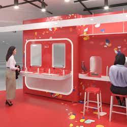 日本初(※1)の肌測定体験「マジック スキャン」と、製品を試せる「テスター バー」 ※イメージ画像
