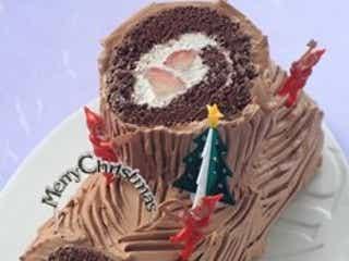 クリスマスの定番!みんな大好きチョコのブッシュドノエル♡